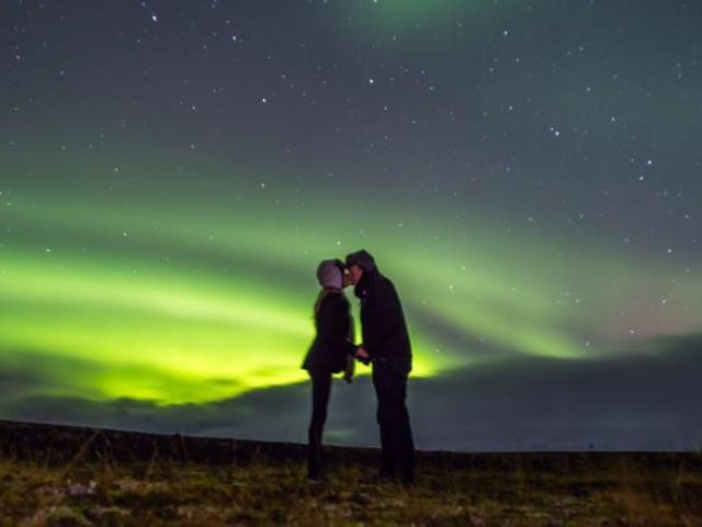 Love and Aurora Borealis. The perfect mix.