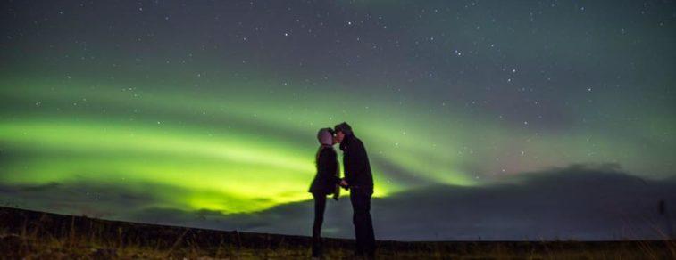 Love and Aurora Borealis. The perfect mix.